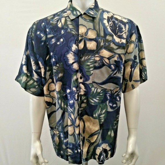 Harry Rosen Other - Harry Rosen Silk Hawaiian Shirt Men's Floral